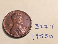 1953-D 1C RD LINCOLN CENT 327Y