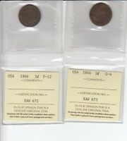 US 2 CENT COINS 1864-1866