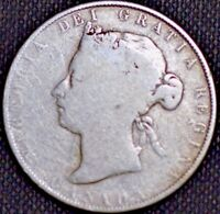 1871 50 CENTS SILVER VICTORIA KM6 CANADA LOW MINT