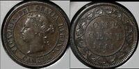 SUMMER SALE   CANADA LARGE CENT   1881H ROUND THE CLOCK DOUBLING   VF  R036