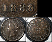 SUMMER SALE   CANADA LARGE CENT 1888 REPUNCHED 888   VF   R071
