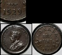 SUMMER SALE   CANADA LARGE CENT 1929 HIGH 9   EF  R139