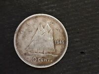 1949 CANADIAN DIME SILVER
