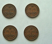 CANADIAN NEWFOUNDLAND ONE CENT   GEORGE VI 1938; 1941; 1942 1943 EF LOT OF 4