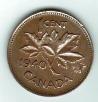 1940 ONE CENT THIS COIN IS IN GOOD CONDITION FOR IT'S AGE
