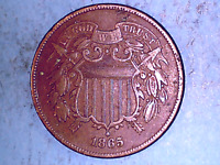 1865 TWO-CENT PIECE IN   FINE CONDITION