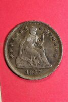 1857 P CULL SEATED LIBERTY HALF DIME EXACT COIN SHOWN FLAT RATE SHIPPING OCE229