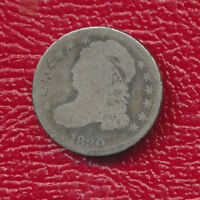 1830 CAPPED BUST SILVER DIME TONING ACCENTS FEATURES SHIPS FREE
