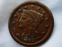 1849 -  BRAIDED HAIR CENT  ABT EXTRA FINE - TONING BEAUTIFUL
