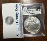 2011W AMERICAN SILVER EAGLE COIN PCGS GRADED MS70 FIRST STRIKE MERCANTI