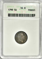 1795 FLOWING HAIR HALF DIME - ANACS VG  GOOD -  PROBLEM FREE & ORIGINAL