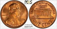 1972 LINCOLN CENT DOUBLED DIE FS 107 PCGS MS64RD DDO