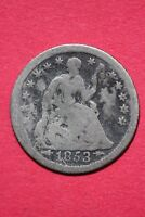 CULL 1853 O SEATED LIBERTY HALF DIME EXACT COIN SHOWN FLAT RATE SHIPPING OCE 208