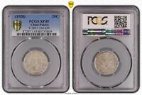 CHINA FUKIEN SILVER COIN 20 CENTS PCGS XF45