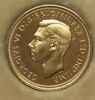 1937 KING GEORGE VI PROOF FULL GOLD SOVEREIGN COIN.