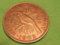 NEW ZEALAND LARGE COPPER 1962   COMBINE SHIPPING 1 TO 10 COINS FOR $2.60