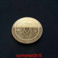EOS COMMEMORATIVE SOUVENIR COIN ROUND COLLECTION GOLD PLATED GIFT 38MM HOT