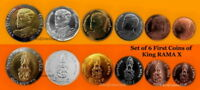 2018 THAILAND SET OF 6 COINS THE FIRST SERIES 17 COIN OF KING VAJIRALONGKORN
