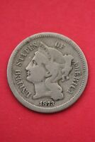 1873 THREE 3 CENT LIBERTY NICKEL EXACT COIN PICTURED FLAT RATE SHIPPING OCE0266