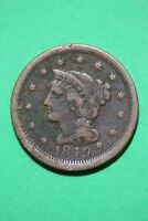 1849 BRAIDED HAIR LARGE CENT EXACT COIN PICTURED FLAT RATE SHIPPING OCE 367