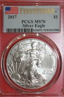 2017 MS70 FIRST STRIKE SILVER EAGLE PCGS CERTIFIED EXACT COIN SHOWN OCE 637