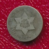 1852 THREE CENT SILVER TRIME  TYPE COIN SHIPS FREE