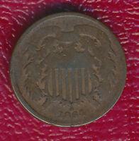 1864 COPPER TWO CENT PIECE GOOD COIN SHIPS FREE