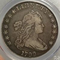 1799 DRAPED BUST SILVER DOLLAR,  FINE, PCGS CERTIFIED CLASSIC TYPE COIN