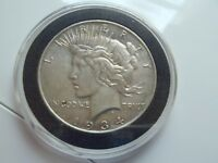 1934-D LARGE D PEACE DOLLAR - LOTS OF DETAIL - IN A CAPSULE