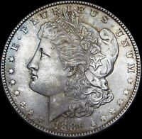 1886 MORGAN DOLLAR SILVER US COIN --- GEM BU CONDITION ORIGINAL --- U479