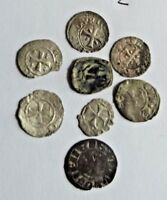 8X / CYPRUS MINT   CRUSADER   MEDIEVAL /  A.D COINS  / UNRES