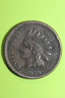 1859 INDIAN HEAD CENT EXACT COIN SHOWN FLAT RATE SHIPPING COPPER-NICKEL OCE 792