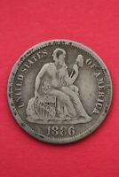 1886 P SEATED LIBERTY DIME EXACT COIN PICTURED FLAT RATE SHIPPING OCE057