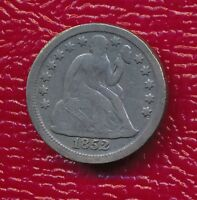 1852 SEATED LIBERTY SILVER DIME FULL