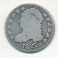 1827 CAPPED BUST SILVER DIME- CIRCULATED EARLY DIME-SHIPS FREE