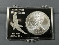 2014 AMERICAN SILVER EAGLE DOLLAR IN BLACK SNAP LOCK CASE