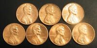1982 PD LINCOLN MEMORIAL UNCIRCULATED CENT 7 COIN VARIETY PENNY SET US MINT COIN