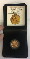 QUEEN ELIZABETH II GOLD PROOF SOVEREIGN   1982 WITH ORIGINAL