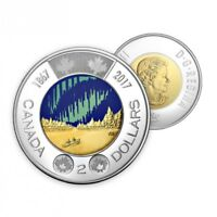 2017 GLOW IN THE DARK TOONIE CANADA 150 $2 COIN  BEAUTIFUL   SHIPS IMMEDIATELY