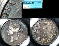 COLLECTION   25 CENT VARIETY 1872H A OVER A IN VICTORIA BLUE TONING F15  L052