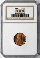 1948-D LINCOLN WHEAT CENT 1C NGC PF66 RD