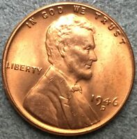 1946 D RD UNCIRCULATED LINCOLN WHEAT CENT PENNY M935 FREE SHIP
