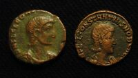 2  REDUCED MAIORINA CONSTANTIUS GALLUS RV FEL TEMP REPARATIO NO MINT MARKS