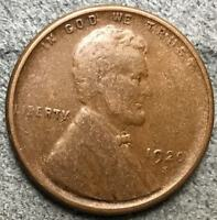 1920 S VF/EXTRA FINE  BN LINCOLN WHEAT CENT PENNY. L853 FREE SHIP