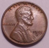 1955 S LINCOLN WHEAT CENT CENT - NOT STOCK PHOTOS - BETTER GRADE  SHIPS FREE