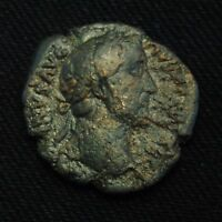 ROMAN IMPERIAL AE AS EMPEROR ANTONINUS PIUS RV ZEUS ENTHRONED 9.85 GRAMS ROME