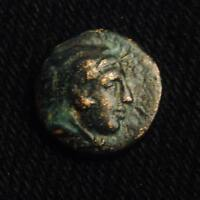 ALEXANDER III AE11 RV CLUB AEANOY BOW IN CASE E BELOW MACEDON MINT 1.48 GRAM