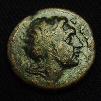 25 KOINON MACEDONIA BUST OF ALEXANDER RV HORSEMAN 12.86 GR  TIME OF ELAGABALUS