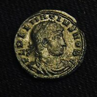 BILLON CENTENIONALIS DELMATIUS CAESAR RV TWO SOLDIERS 1.18 GRAMS AD 336 7 SISCIA
