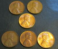 1954- P D S AND 1955D, 1956D & 1957D LINCOLN  WHEAT CENTS
